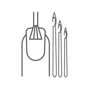 Pennelli per ricostruzione e nail Art